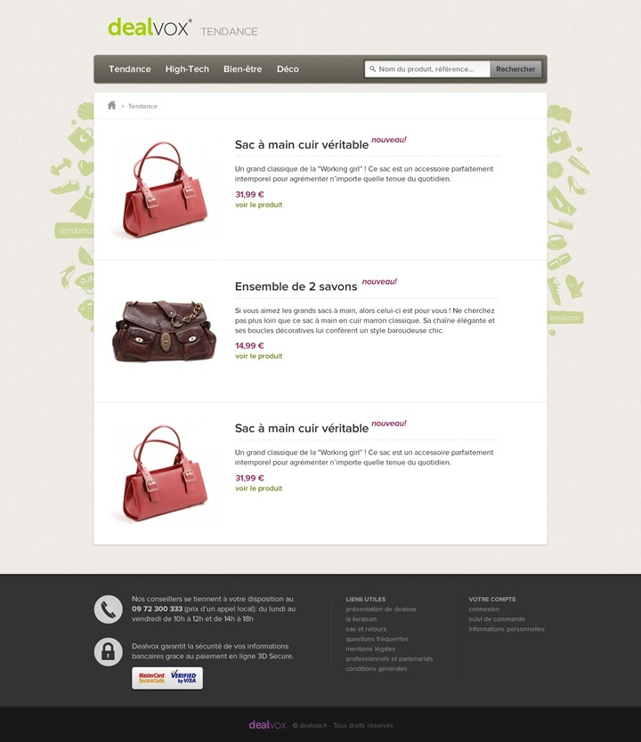 dealvox webdesign page tendances