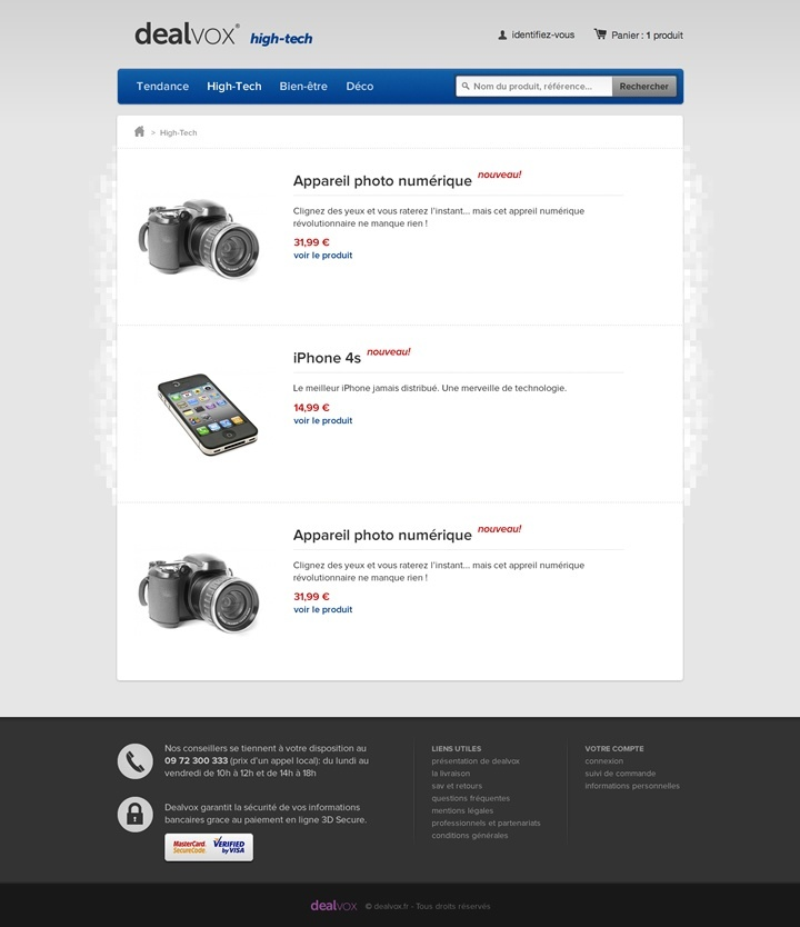 dealvox webdesign page hitech