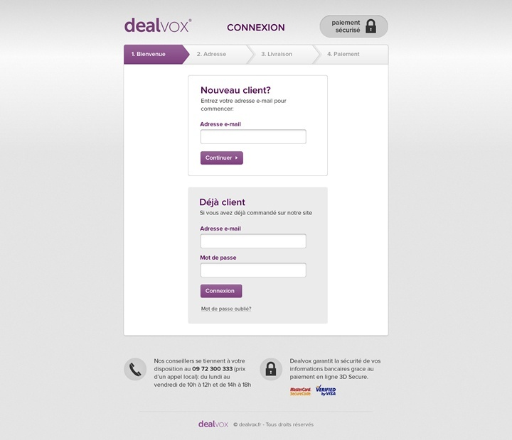 dealvox webdesign page commande