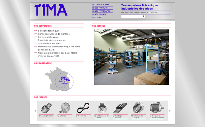 intégration tima page accueil