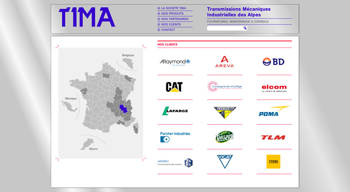 intégration tima page clients